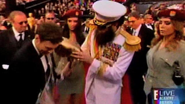 Sacha Baron Cohen Spills Ashes All Over Ryan Seacrest