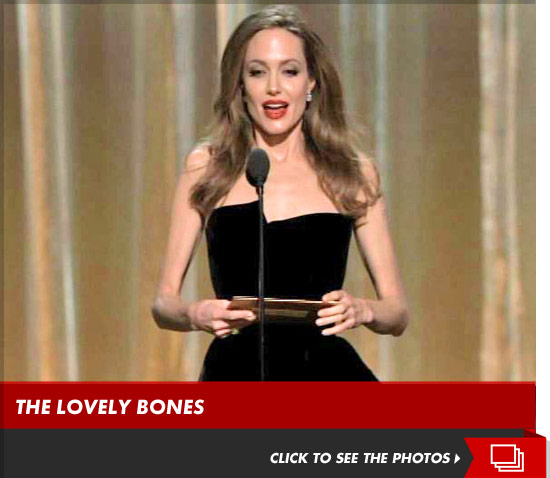 Angelina Jolie looked INCREDIBLY skinny at the Oscars last night.