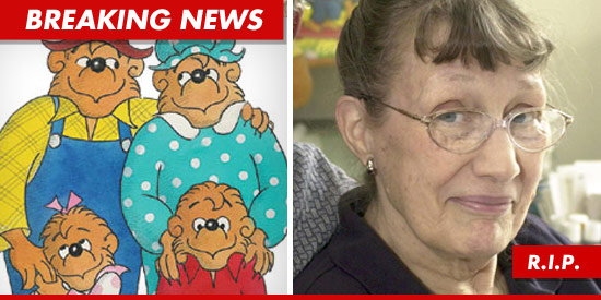 Jan Berenstain died Friday at 88-years-old after suffering a stroke