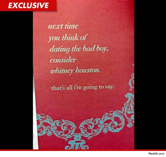 whitney houston  target pulls offensive greeting card  tmz, Birthday card