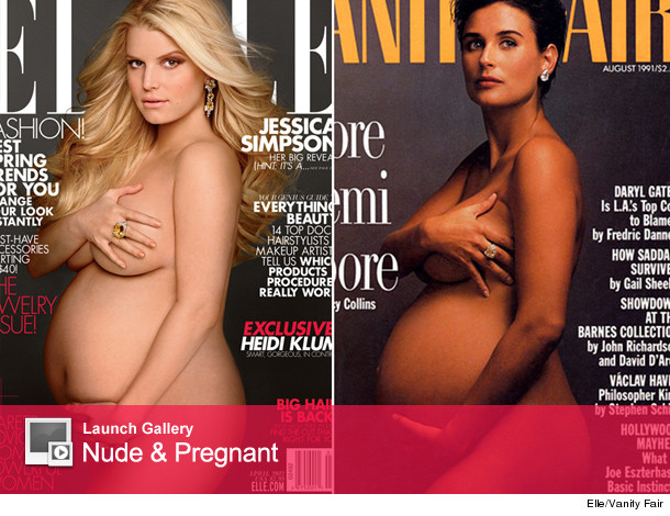 Jessica Simpson revealed her nude cover of Elle Magazine today -- and it's ...