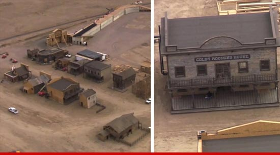 The Lone Ranger movie set