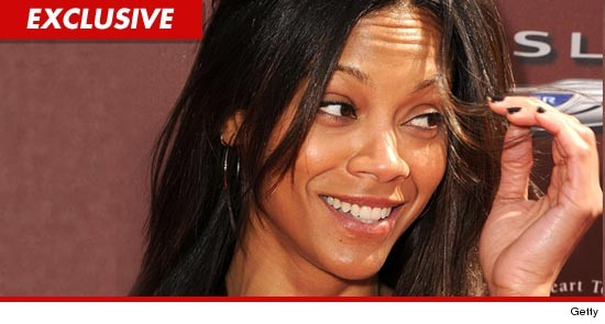 Zoe Saldana was feeling a little blue this weekend