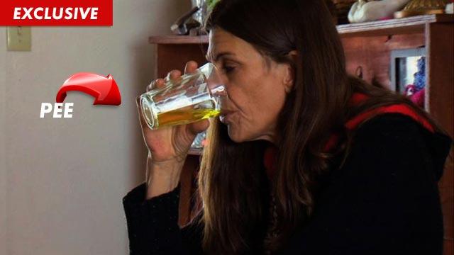 Women Drinking Own Pee