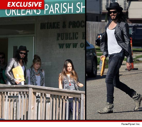 Russell Brand was just sprung from jail after posting bail.