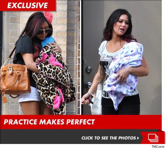 Only one of them is really pregnant at the moment, but Snooki and Jwoww both ...