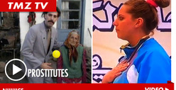 &#039;Borat&#039; -- Gold Medalist Honored in &#039;Prostitute&#039; National Anthem Screw Up