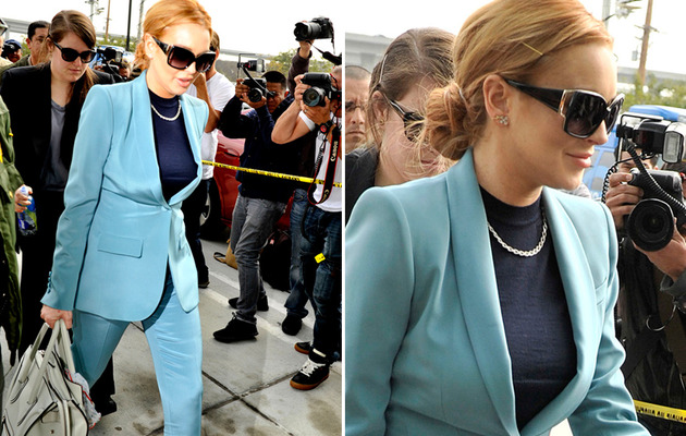 Lindsay Lohan -- Beautiful in Blue for Final Court Appearance