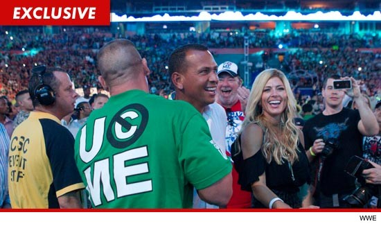 Torrie Wilson and Alex Rodriguez at Wrestlemania