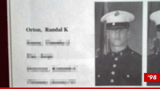 Randy Orton in a marine uniform