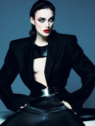 Leather-Clad Keira Knightley In Sexy Shoot