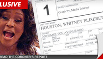 Whitney Houston Autopsy Report -- DRUG SPOON & Coke Found in Hotel Room