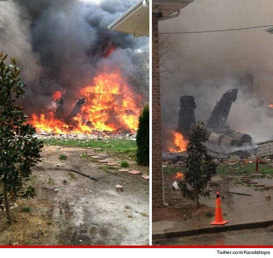 F-18 Hornet fighter jet that crashed into an apartment complex in Virginia.