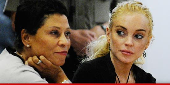 Lindsay Lohan and her attorney, Shawn Holley