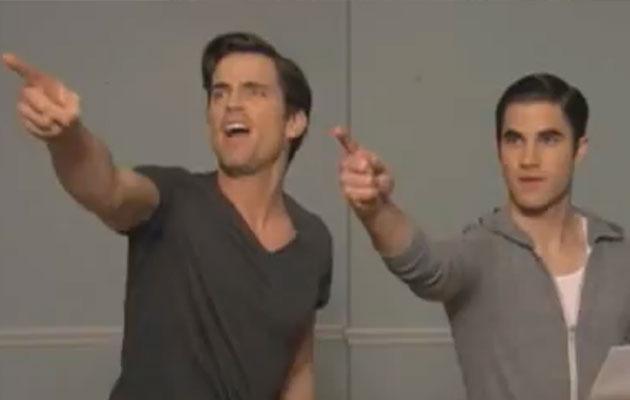 """""""Glee:"""" Darren Criss and Matt Bomer's Hilarious """"Transformers"""" Audition!"""