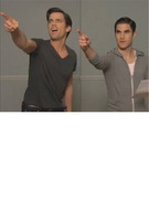 """Glee:"" Darren Criss and Matt Bomer's Hilarious ""Transformers"" Audition!"