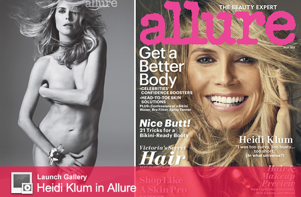 Heidi Klum Goes Nude for Allure