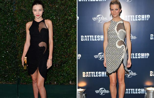 Dueling Dresses: Miranda Kerr vs. Brooklyn Decker!
