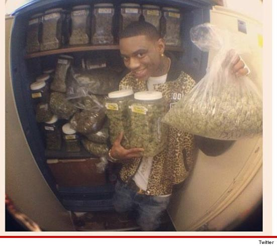 Souja Boy with a motherload of weed