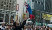 "Cuba Gooding Jr. Throws Kid into the Air on ""GMA"""