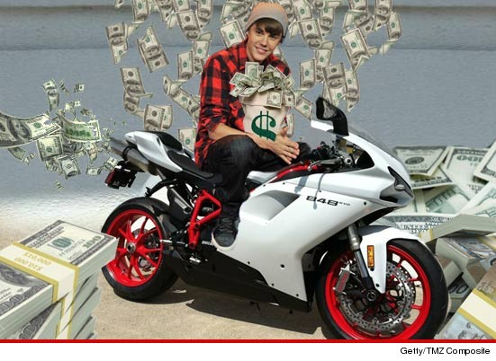 Justin Bieber snatched up a Ducati motorcycle