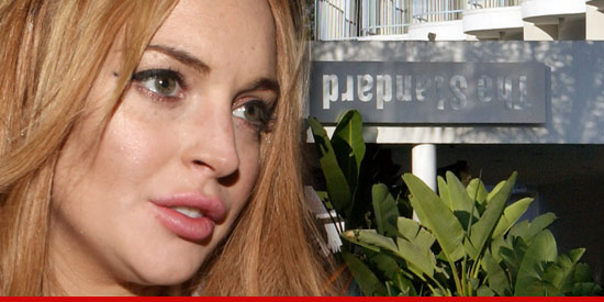 Lindsay Lohan returned to the scene of the (alleged) crime
