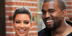 Kim Kardashian & Kanye West -- Getting Their Licks In