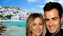 Jennifer Aniston -- Scouting Trip to Crete for Wedding to Justin Theroux