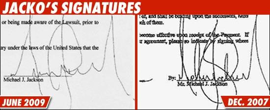 Jacko's Signatures