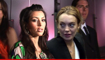 Kim Kardashian and  Lindsay Lohan Share Table at White House Correspondents' Dinner