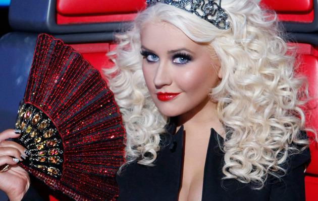 Christina Aguilera Wears Tiara, No Pants!