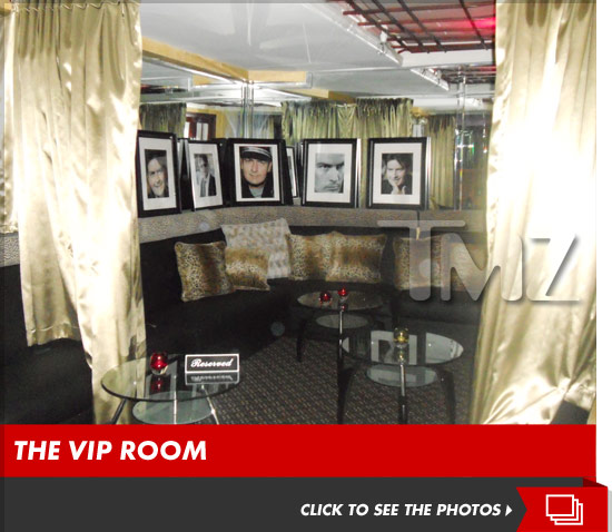Charlie Sheen VIP strip club room