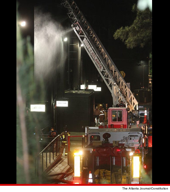 Studio belonging to Tyler Perry caught fire.