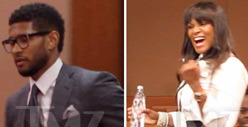 Usher & Ex-Wife in Court -- Child Custody Showdown