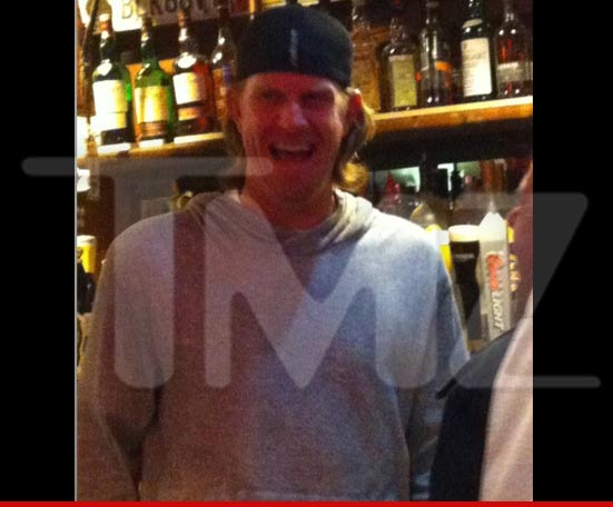 Jered Weaver partying at a dive bar after pitching no-hitter!!!