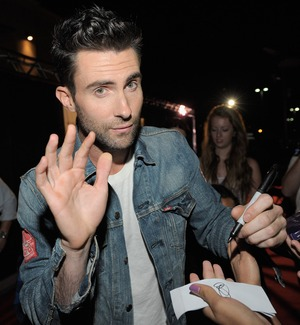Stare at Adam Levine
