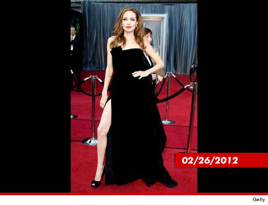 Angelina Jolie debuted the infamous Jolie leg