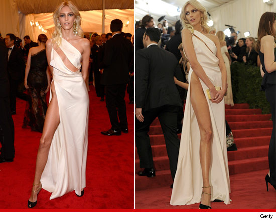 Anja Rubik and The Nearly X-Rated Jolie Leg!