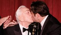 Travolta's Hetero Man-on-Man Kiss -- Take 2