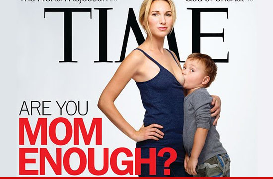 Time magazine cover with breastfeeding