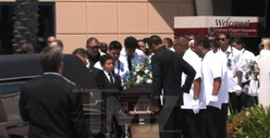 Junior Seau Memorial -- Casket Hits the Road