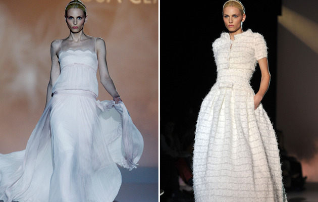 Male Model Andrej Pejic Models Wedding Dresses