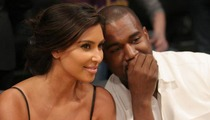 Kim Kardashian & Kanye West Hit Up Lakers Game