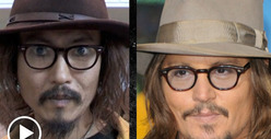 Johnny Depp -- Doubled Up by Japanese Superfan