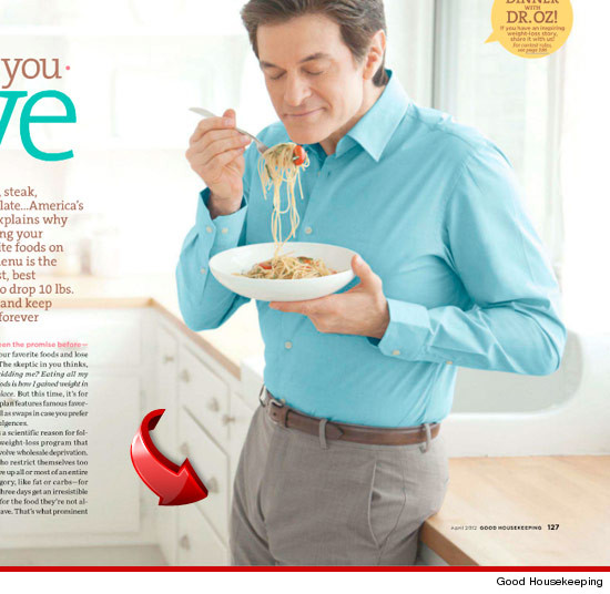 Dr. Oz penis bulge in Good Housekeeping?