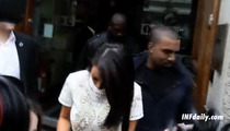 Kim Kardashian & Kanye West -- Head-to-Head in London Popularity Contest