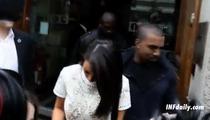 Kim Kardashian & Kanye West -- Head-to-Head in London Popularity Contest