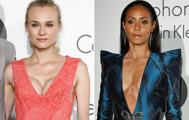 Diane Kruger & Jada Pinkett Smith: Flaunting Cleavage at Cannes!