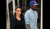 Kim Kardashian and Kanye West -- Black and Blue