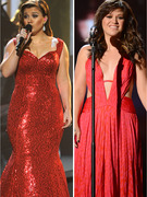 Kelly Clarkson Shows Slim Down In Sexy Red Dress